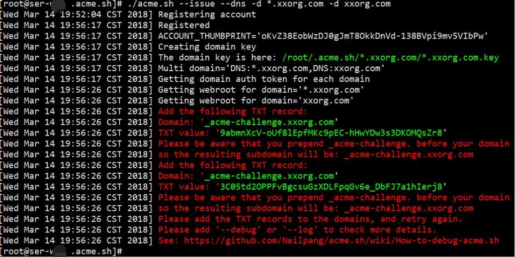 Let's Encrypt免费泛域名证书申请教程步骤